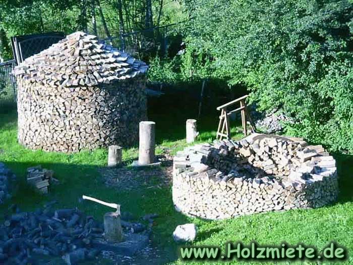 Bauanleitung Einer Scheitholz Miete Holz Traditionell Lagern