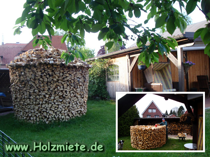 Gemütliches Feuers und Wärme aus gut gelagertem Birkenholz