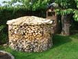 Brennholzernte für den Kamin