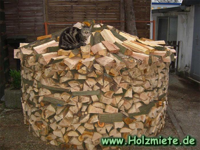 traditionelles brennholzlager selbstgebaut wie unsere. Black Bedroom Furniture Sets. Home Design Ideas