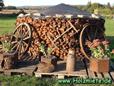 Holz mit elektrischem Holzspalter gespalten
