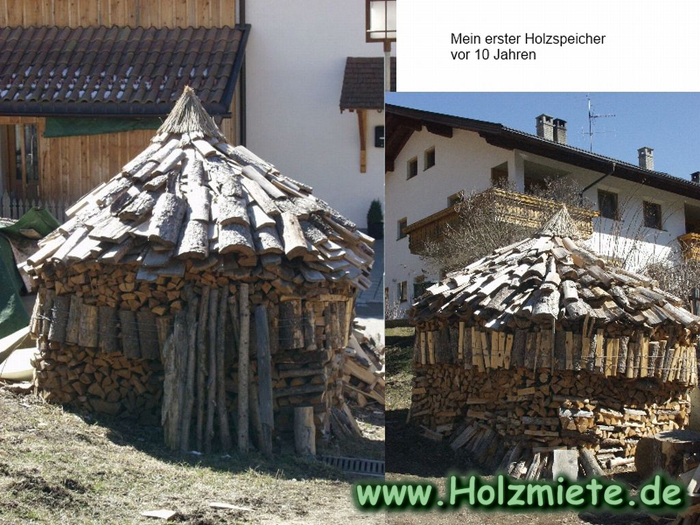 heizen mit getrocknetem Holz