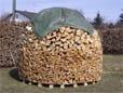 Eine Holzmiete wird regional auch als Finne oder Holzfinne bezeichnet