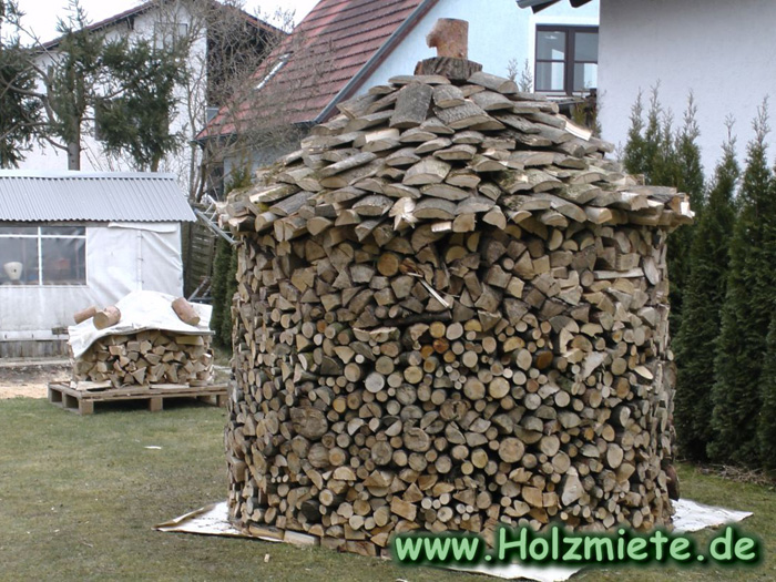 Holz Nachspalten, da doch mehr Holz reinpasst als man denkt