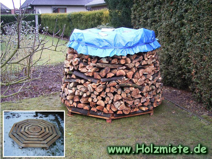 Holz Unterkonstruktion zum stapeln und trocknen von Brennholz