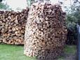 Holzscheite für Holzfeuerung aufstapeln