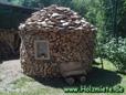 unser erstes Holzhaus, Fiscars und Muskelkraft sei Dank