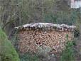 Holzlege aufsetzen mit Holz aus Selbswerbung
