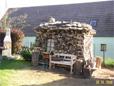 Rechteckige Holzmiete aus Buchen und Eichen Holzscheite f�r den Kamin