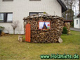 Holzstapelung von Buchenholz