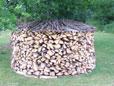 Vorrat von 20 - 25 Raummeter Brennholz im Winter für Holzvergaser Ofen