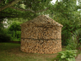 guter Holzvorrat für die Kalte Jahreszeit nahe der französischen Grenze