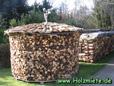 houtmijt van 12 stere Amerikaanse eik