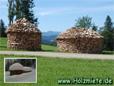 Holzmieten als dekorative Lagermethode mit optischen Mehrwert