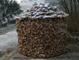 Platzsparende Lagerm�glichkeit f�r 14 fm Holz