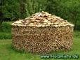 Brennholz in einem landwirtschaftlichen Ausbereich