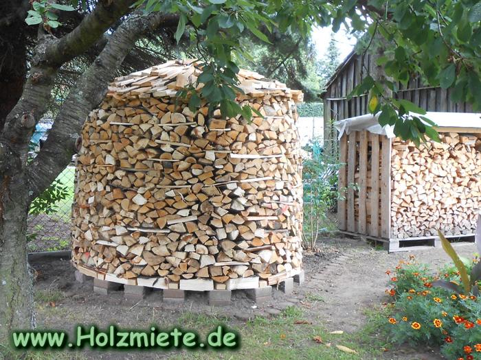 nächste Holzmiete wird um einiges grösser, neues Holz ist bereits gemacht