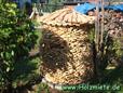 Holzmiete aus Palettenholz preiswerte Alternative