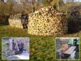 Vom Rohholzstapel bis zur Holzmiete mit Maschine Marke Eigenbau