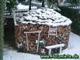Holz mit Spalter gespalten erleichtert die Arbeit