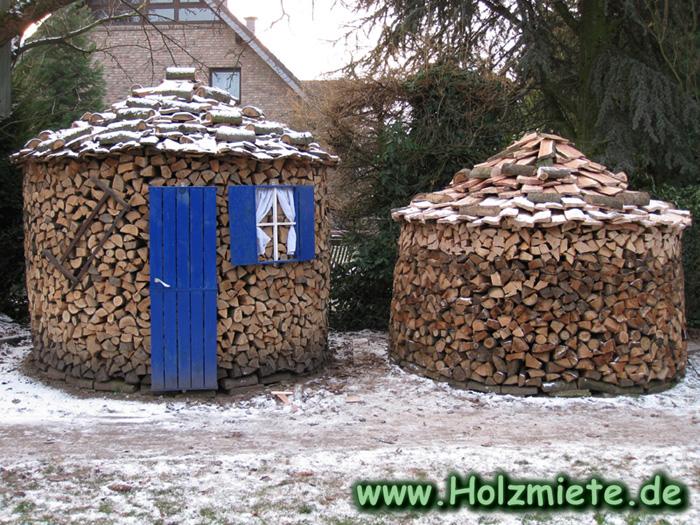 Feuerholz aus dem eigenen Waldstück mit Roteichen