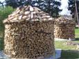 Holzarten Eiche, Buche und Wildkirsche zur Holzmiete verbaut